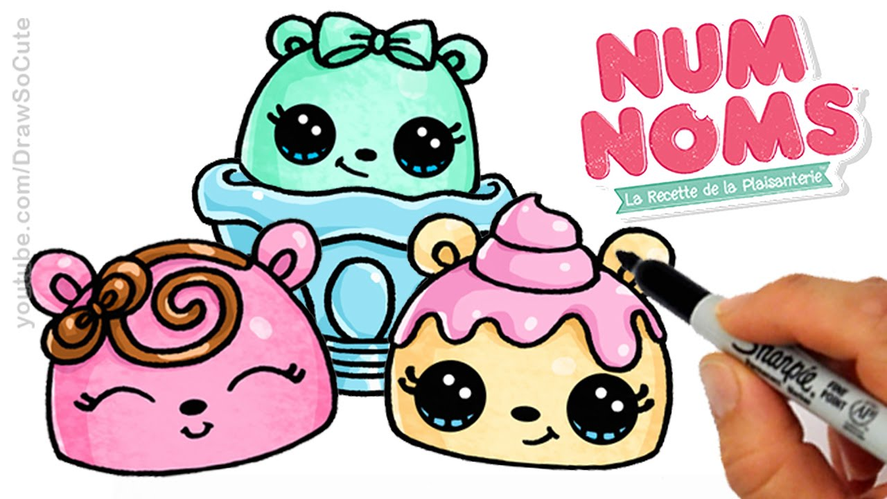 How To Draw Num Noms Step By Step Cute And Easy Youtube