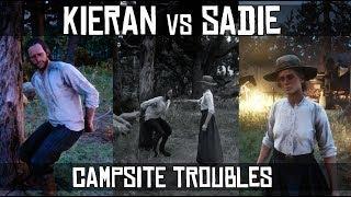 Sadie Adler Being Mean To Kieran Duffy By Tossing Food ( Campsite Troubles #1 ) - RDR2