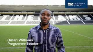 Sport Management at the University of Derby