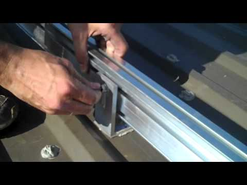 Solar Pv Racking Attaching L Foot To Racking Module Rails