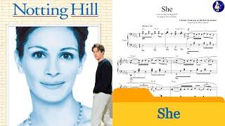 Notting Hill - She - Charles Aznavour & Herbert Kretzmer - Piano cover
