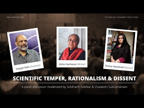 Scientific Temper, Rationalism & Dissent - Panel Discussion