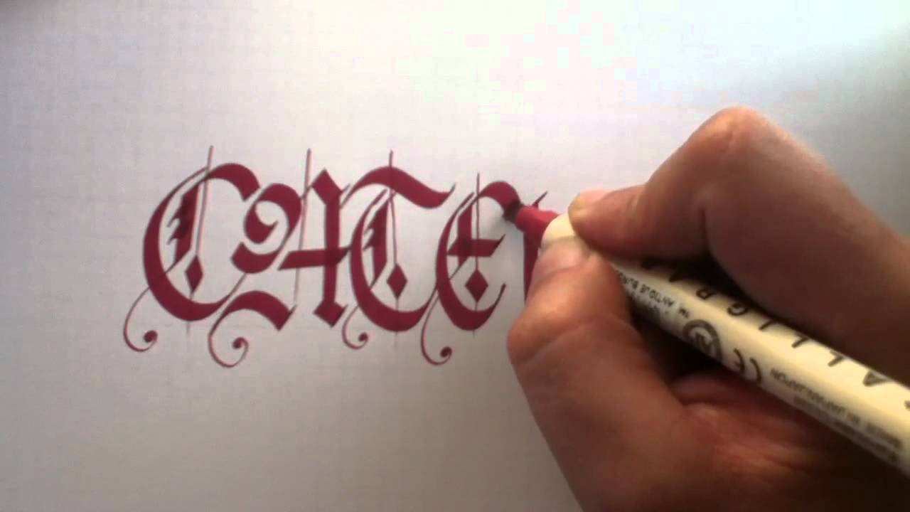 Caligrafia el caligrafo - gu00f3tica - YouTube