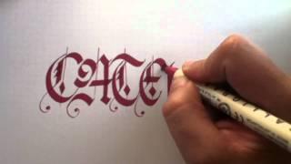 Caligrafia el caligrafo - gótica