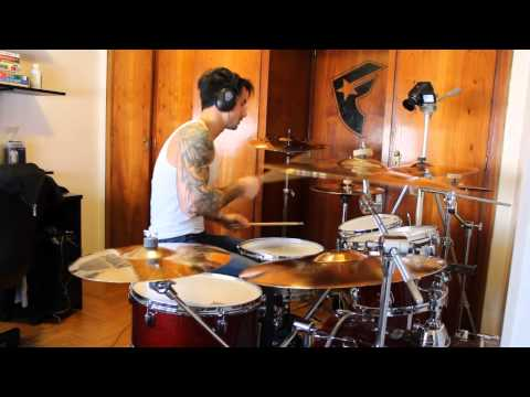 rihanna - umbrella (travis barker rmx drum cover)