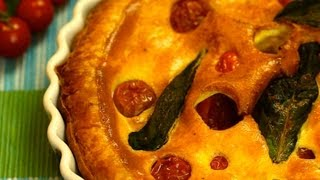 Quiche From Provence With Cherry Tomatoes And Basil