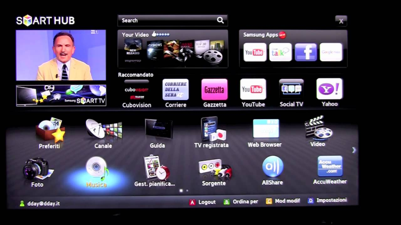 Samsung UE55D8000YU SMART TV Windows 8 X64
