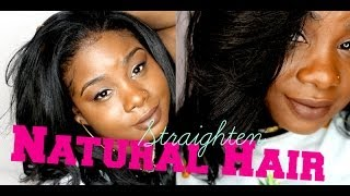 ♥ How I straighten my Natural Hair