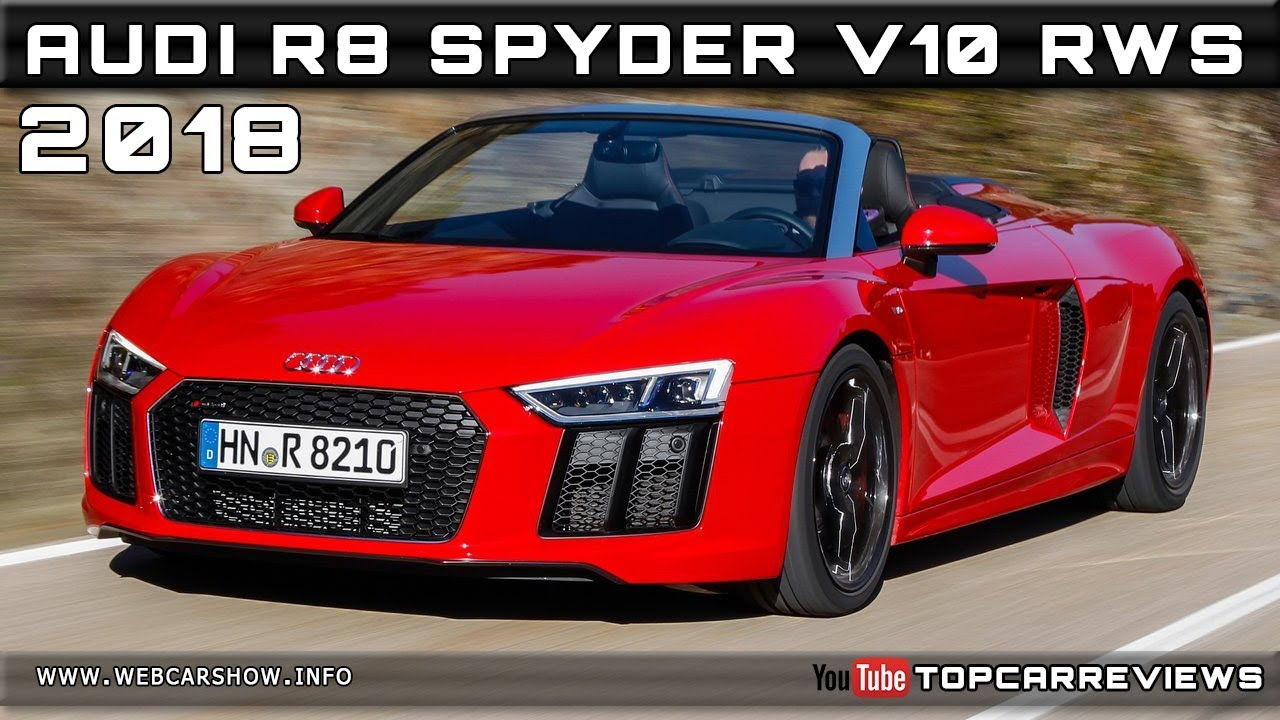 2018 Audi R8 Spyder V10 Rws Review Rendered Price Specs Release Date