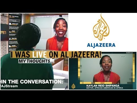 I was LIVE on Al Jazeera! | African Americans Moving to Africa | My Response
