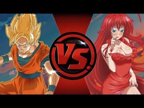 GOKU SSJ VS RIAS GREMORY!(Dragon Ball Vs High School DxD)Sprite Animation/Sprite Battle