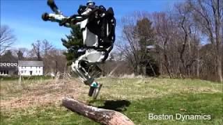 Robot Atlas biega i wykonuje salto w tył. Najbardziej humanoidalny robot Boston Dynamics