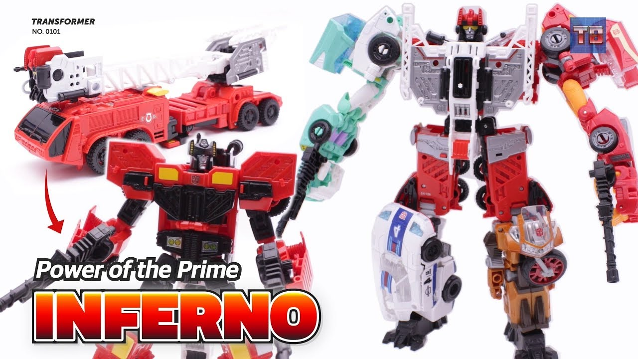 Transformers Power Of The Prime Inferno Combiner Autobot New