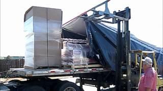 Flatbed trailer tarping ULTRA TARPER SYSTEM