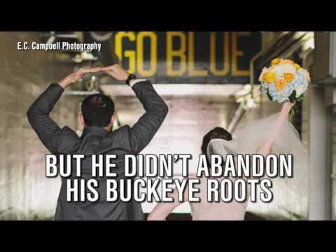 Ohio State & Michigan fan marry, hold wedding reception at Michigan Stadium