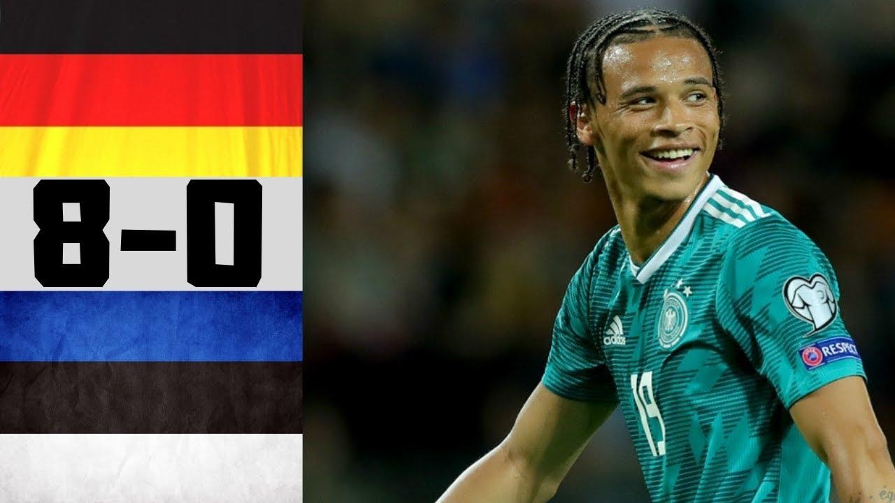 Alemanha v Eѕtoniа 8 0 Melhores Momentos & Golos 11 06 ...