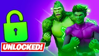 Unlocking *BEAST BOY* EARLY in Fortnite (Teen Titan Cup)