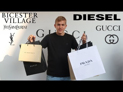 Shopping at Bicester village - outlet! GUCCI, PRADA...