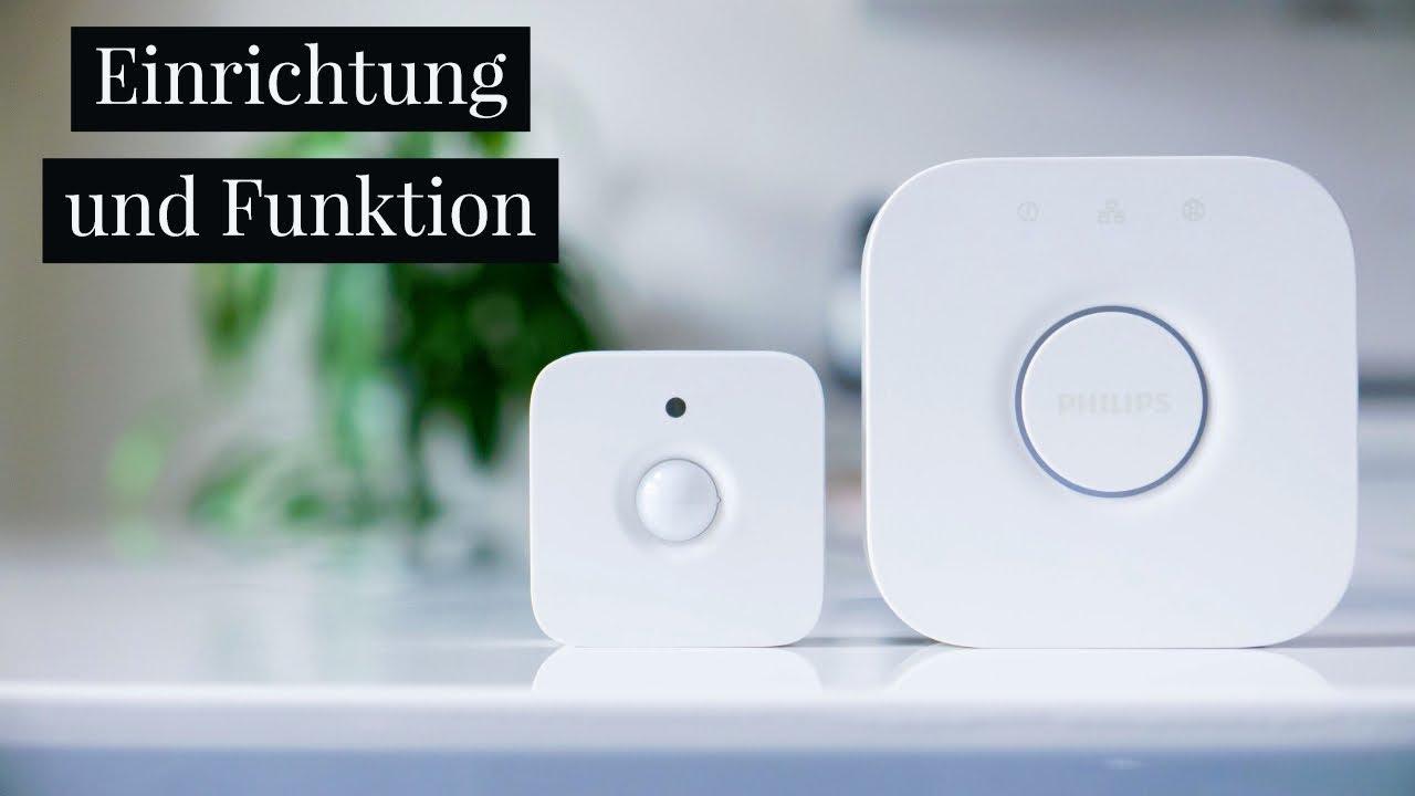 bewegungsmelder philips hue einrichtung und funktion deutsch youtube. Black Bedroom Furniture Sets. Home Design Ideas