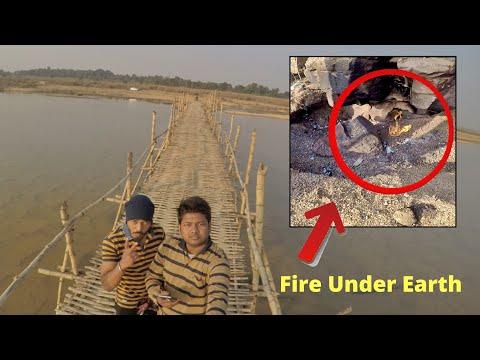 Aag Ugalta Asansol | Fire on Banks Of River Damodar Bunrpur Asansol