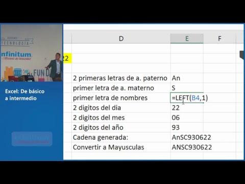Excel: De básico a intermedio