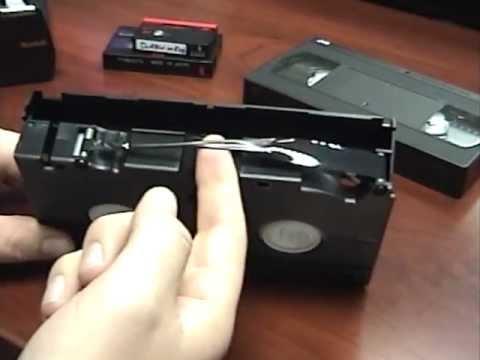 How to Repair VHS 8mm hi8 & minidv Video Tapes Repair Pt. 1 of 3.mov