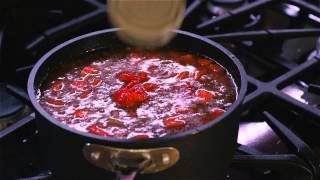 Hamburger Soup With Stewed Tomatoes & Mozzarella : Tasty Dishes