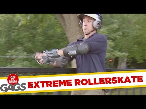 Rollerblades Turn Into Rockets !