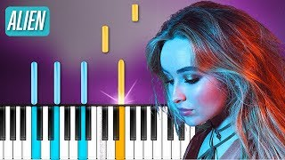 "Sabrina Carpenter  - ""Alien"" Piano Tutorial - Chords - How To Play - Cover"