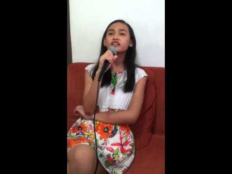 10yo girl singing Because of You