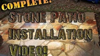 Flagstone Patio How To Install Build A Patio Complete Steps