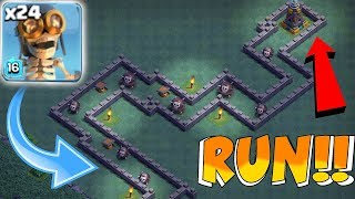 "MAX BOMBER TROLL MAZE!! ""Clash Of Clans"" BH8 MAZE BASE!"