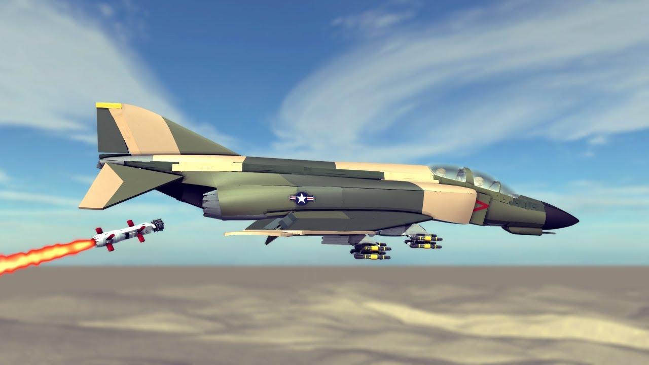 Air vs Ground Combat #9 Feat. F-4 Phantom Action!   Besiege