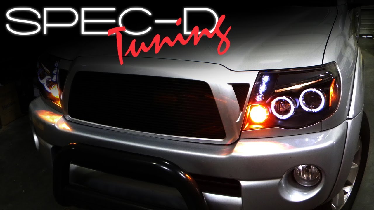 SPECDTUNING INSTALLATION VIDEO: 2005UP TOYOTA TACOMA PROJECTOR HEADLIGHTS  YouTube