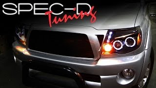 SPECDTUNING INSTALLATION VIDEO: 2005-UP TOYOTA TACOMA PROJECTOR HEADLIGHTS