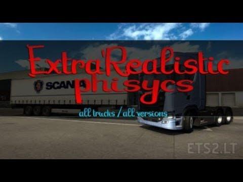 [1 30] Euro Truck Simulator 2 | Extra Realistic Physics v 1 0 | Mods
