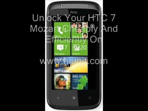 HTC 7 Mozart Unlock Guaranteed !!!