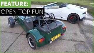 Lamborghini Huracan vs Caterham 310R. Bang for buck test w/ Tiff Needell