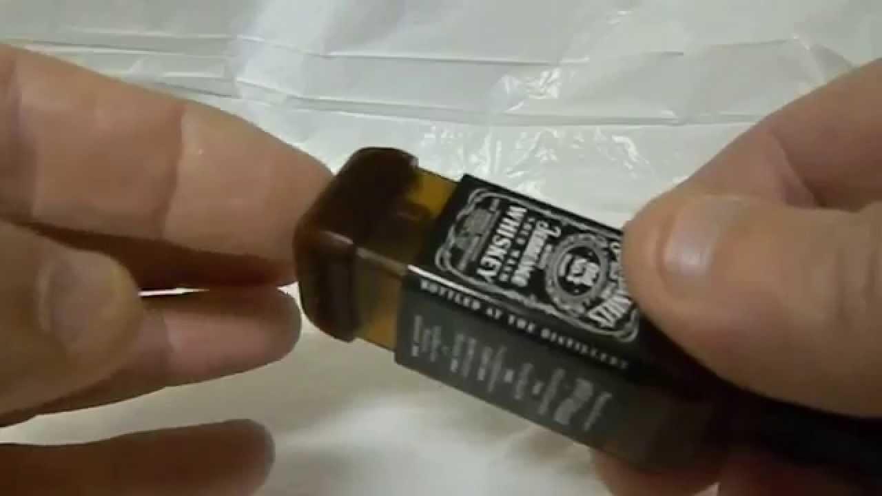 Jack Daniels Bottle Shaped Lighter - YouTube