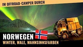 Winter-Roadtrip durch Norwegen! Im Allrad-Wohnmobil zu den Polarlichtern