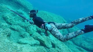 Ultra Clear Water SPEARFISHING in Greece! (Catch and EAT)