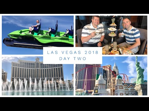Las Vegas Vlog - March 2018 - Day 2 - Stratosphere, Afternoon Tea and Bellagio Fountains