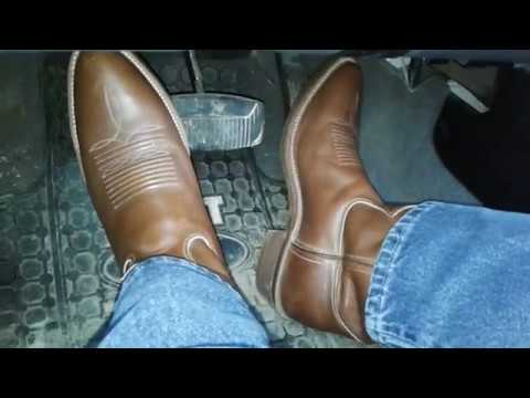 Brown Justin Boots Pedal Play