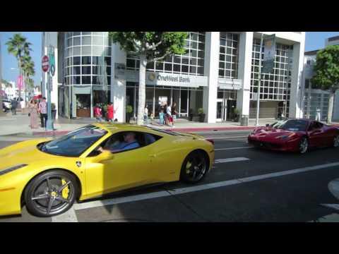 Seven Ferraris in Beverly Hills