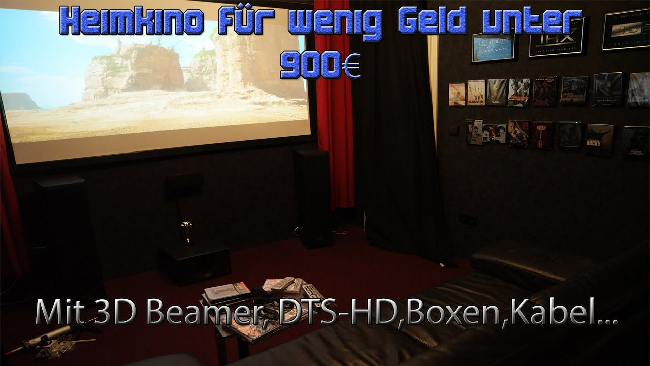 g nstiges heimkino f r unter 900 euro mit 3d beamer 5 1. Black Bedroom Furniture Sets. Home Design Ideas