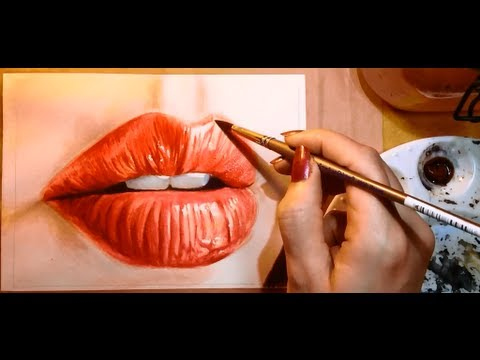 How to Paint a Realistic Mouth Lips  Watercolor Portrait Tutorial  YouTube