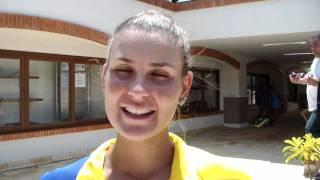Ana Clara Duarte pede apoio da torcida para o confronto com a Colômbia