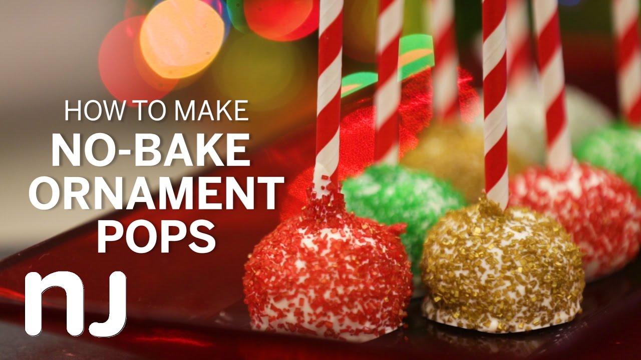 No Bake Oreo Ornament Pops