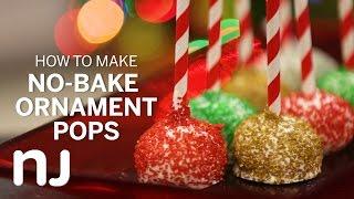 No-bake Oreo ornament pops