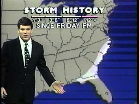 Weather Channel - Dec 24, 1989 (Record Snows in the southeast)